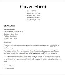 Examples Of Cover Sheets Magdalene Project Org