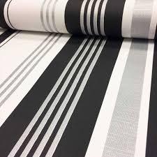 textured stripe striped wallpaper white black metallic shiny silver modern decor