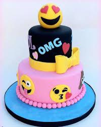 Emoji Girls Birthday Cake Girl Birthday Cake Ideas