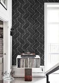 black geometric pattern modern