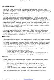 small business plans examples sample business plan executive summary business form templates