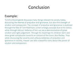 writing great essays using harper lee s to kill a mockingbird  10 conclusion example to kill a mockingbird
