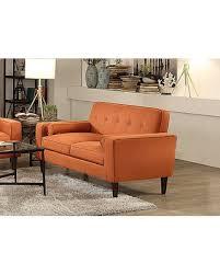 mid century modern loveseat. Orange Mid-Century Modern Loveseat Mid Century F