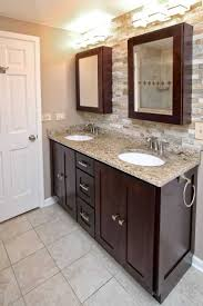 White Bathroom Cabinets With Dark Countertops Inspirations And