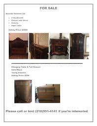 set dresser for sale bedroom set dresser and changing table