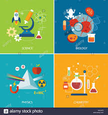 Science Physics Science Concept Physics Chemistry Biology Flat Design