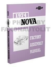 1974 chevy nova wiring diagram manual reprint 1974 chevy nova factory assembly manual reprint
