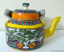 Small Picture Buy Aluminium Kettle Painted In Madhubani From Bihar East India