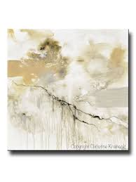 giclee print art abstract grey white painting coastal modern neutral beige taupe gold home decor wall art canvas on large white and gold wall art with giclee print art white grey abstract painting modern neutral wall