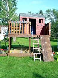 outdoor fort ideas backyard building kit shining simple forts