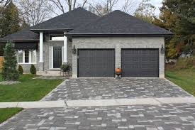 garage door dark gray compliments house front door could be bright