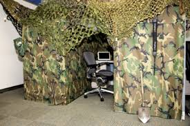ill conclude with this pimped cubicle that kicks solid ass a camouflaged cubicle that shows those evil terrorists whats what while still getting that awesome cubicle decorations