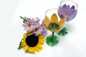 wine glass crafts painted wine glasses with flowers wine glass crafts wine glass