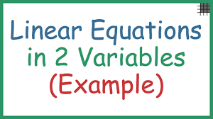 linear equations in two variables example