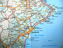 where is benidorm on map  spain  travel in spain  pinterest