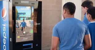 Interactive Vending Machines Beauteous Pepsi's Interactive Football Vending Machine