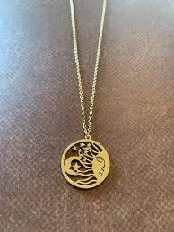 sun moon stars necklace celestial