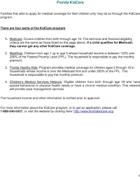 Florida Kidcare Income Requirements Kids