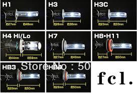Car Headlight H4 P43t Hid Xenon Lamp 35w Lumen 2500 2800lm