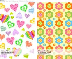 Lovely Cute Background Set Design Vector Download