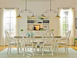 universal furniture summer hill 7pc rectangular leg dining set w pierced back chairs in cotton