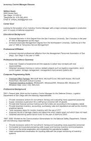 ... Inventory Control Resume 7 10 Sweet Looking 6 Manager ...