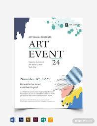 Art Event Flyer Art Event Flyer Template Word Psd Indesign Apple