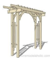 garden arbor for a backyard wedding arch