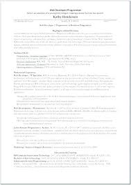Sample Resume For Web Designer Fascinating Web Developer Resume Template Asp Sample Net Java Front End Senior