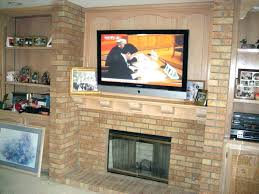 fresh mounting tv above brick fireplace and design mounting above brick fireplace modern decoration a over