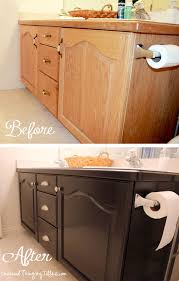 painting bathroom vanity before and after. give your bathroom vanity a facelift painting before and after