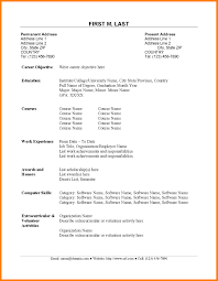 Simple Resume Template Australia Free Resume Example And Template