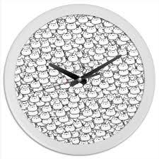 Часы круглые из пластика <b>Котики</b> #338167 от ramzan - <b>Printio</b>