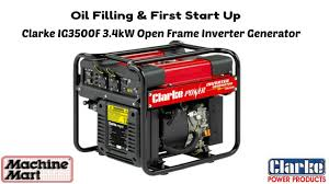 first electric generator. Modren Electric Clarke IG3500F Generator Oil U0026 Petrol Filling First Start Up On Electric T