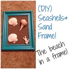 artistic friday diy seashell sand frame art