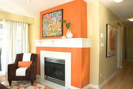 orange wall paintburntorangewallpaintLivingRoomContemporarywithaccentwall