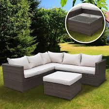 5 seater rattan corner sofa set with