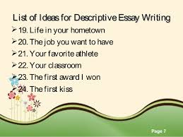 descriptive essay topics theer hospital room 7