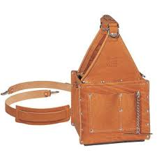 17116 35 975 ideal tuff tote premium leather ultimate tool carrier with shoulder strap 8 square base