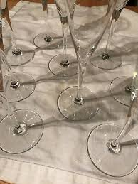 vintage baccarat crystal champagne flutes dom perignon 8