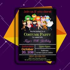 Halloween Invitation Printable Halloween Costume Party Etsy