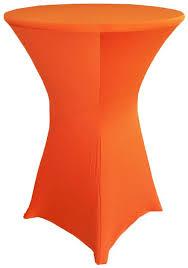 30 cocktail spandex table cover orange 64633 1pc pk