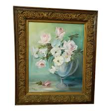 Early 20th Century Pastel Floral Still Life Signed Oil on Canvas Painting |  Chairish