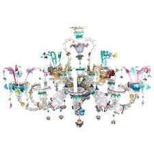 vintage murano chandelier vintage glass chandelier