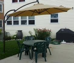 ft dia solar powered patio umbrella