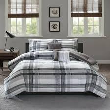 twin xl full queen bed gray grey black