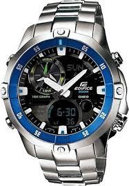 watch casio edifice analog digital watch for men silver casio edifice analog digital watch for men silver