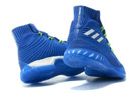 adidas basketball shoes 2017. latest style adidas crazy explosive 2017 primeknit white royal blue men\u0027s athletic sport basketball shoes
