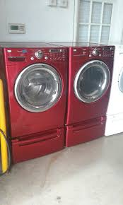lg tromm dryer. Red Lg Front Load Washer And Electric Dryer Set Tromm
