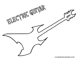 bass guitar colouring pages coloring electric page string instrument electr